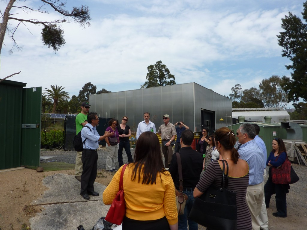 Delegates touring the Melbourne Zoo with the sustainability team. The first carbon neutral zoo in the world.