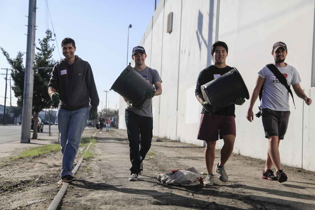 UCLA students care for trees in LA's Industrial District