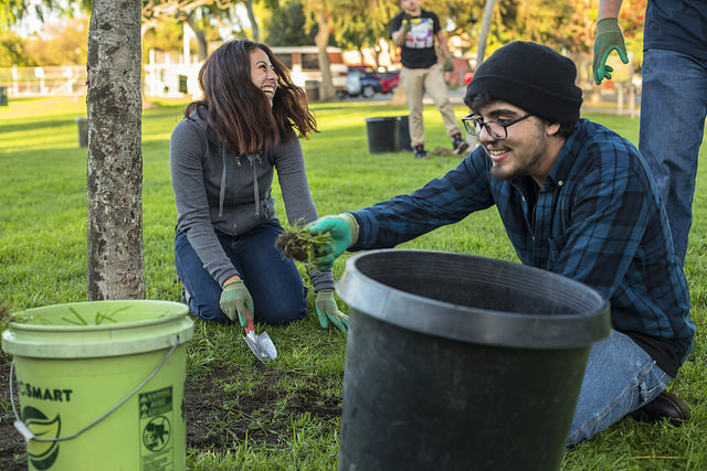 Boys and Girls CLub Tree Care Event in Penmark Park