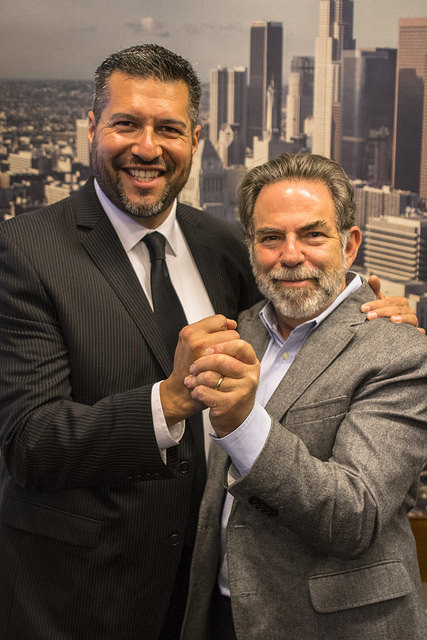 LA Councilmember Felipe Fuentes and TreePeople Founder and President Andy Lipkis