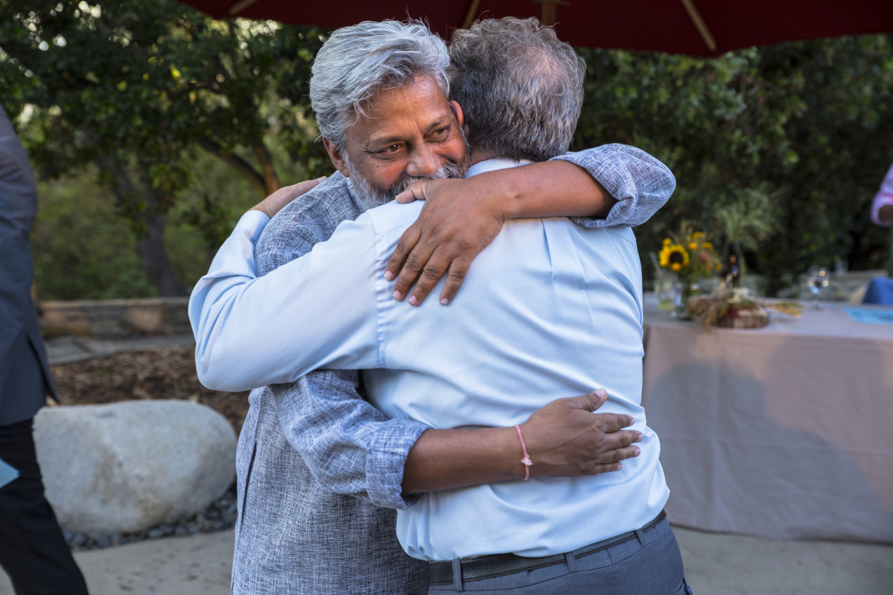 TreePeople Founder Andy Lipkis and guest Rajendra Singh