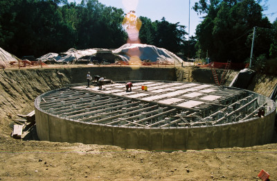 TreePeople cistern construction Coldwater Canyon Park photo by TreePeople