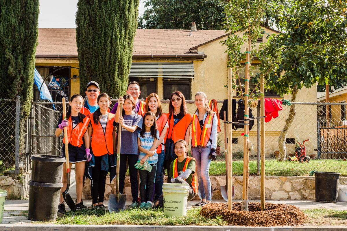 TreePeople Street Planting in Lynwood, California