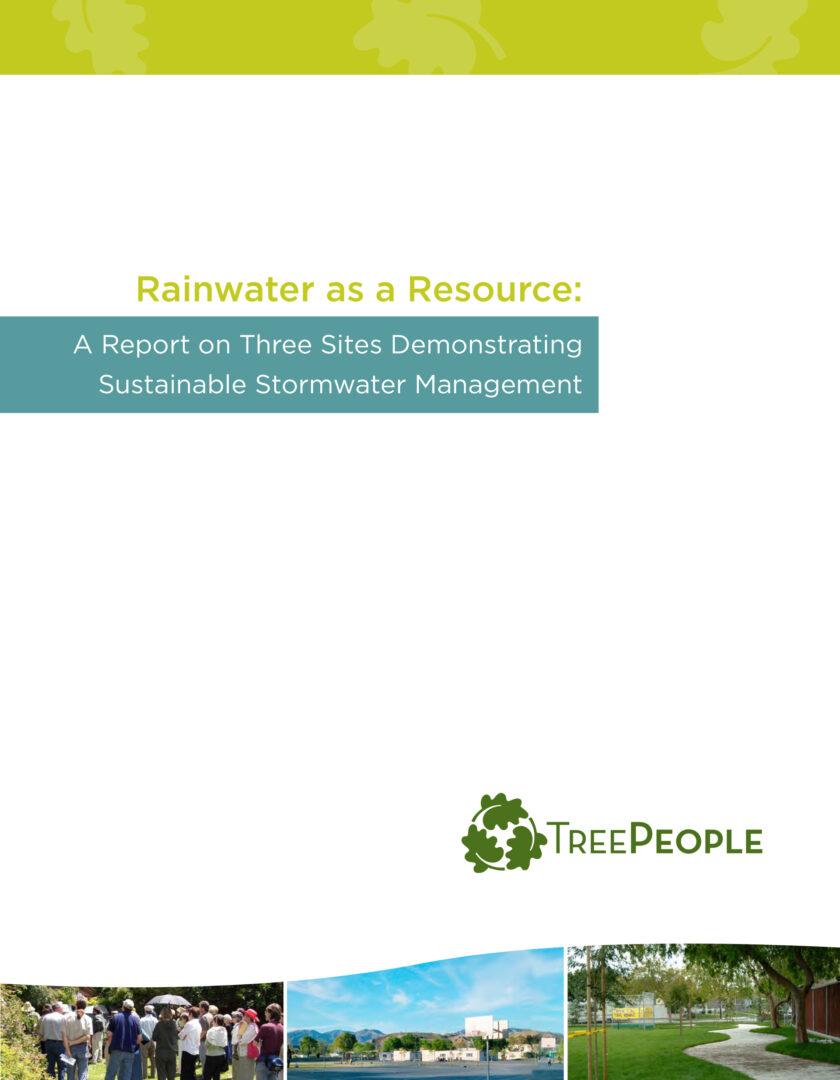 Rainwater as a Resource